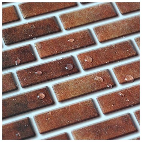 tiles brick style peel and stick wall tile in brick style for kitchen and bathroom 10 pics