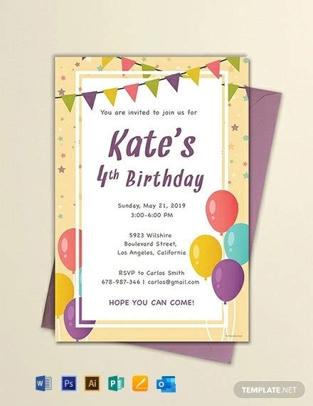 47+ FREE Birthday Invitation Templates Word (DOC) PSD