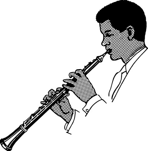 onlinelabels clip art oboe player