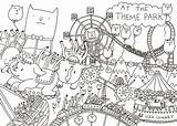 Colouring Park Amusement Drawing Map Template Coloring Step Process Fun Mistakes Making Pages Bog Sketch Layer Sure Each Any Place sketch template