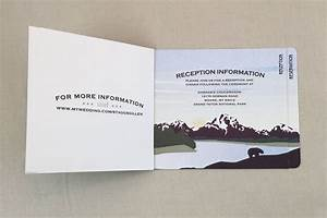 grand teton purple mountains 4pg booklet wedding With mini booklet wedding invitations