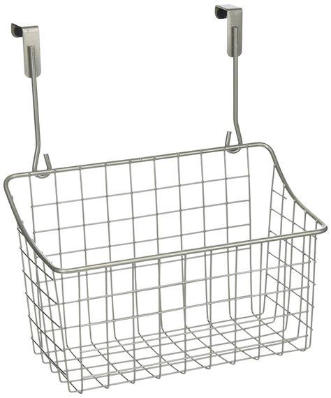 over the cabinet basket over the cabinet door basket nickel in cabinet door