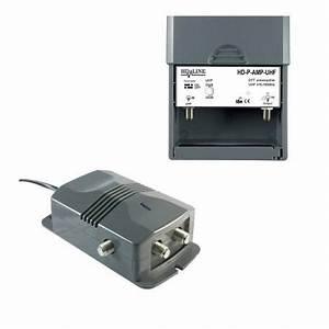 Amplificateur Antenne Tv : hd line 2 1 tv amplificateur alimentation pour antenne ~ Premium-room.com Idées de Décoration