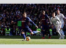 Real Madrid 03 Barca Report Suarez, Messi, Vidal score