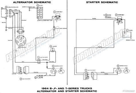 Ford Truck Alternator Diagram by 1964 Ford Truck Wiring Diagrams Fordification Info The