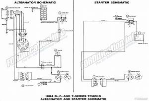 1964 Ford Truck Alternator Wiring Diagram  Ford  Auto Parts Catalog And Diagram