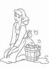 Coloring Cinderella Pages Disney Princess Colouring Cleaning Adult Rags Cool Webs Wondersofdisney sketch template