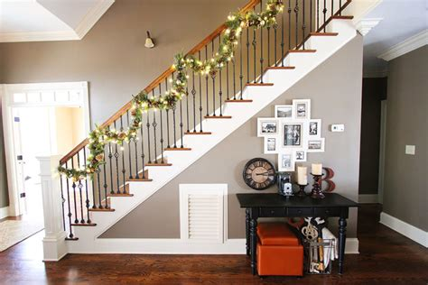 christmas decorations open floor plan staircase  kevin