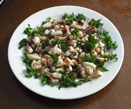 cuisine seiche tête de seiche en persillade photo de cuisine de la mer
