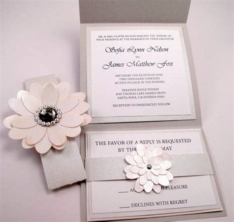 vintage couture wedding invitation swarovski crystal