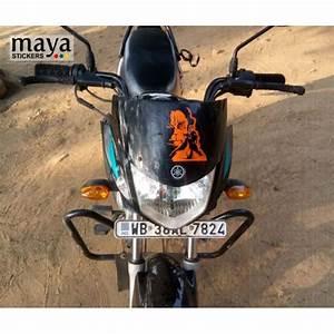 Angry Hanuman Custom Color Stickers