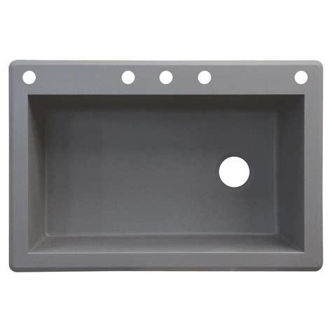single bowl kitchen sink drop in transolid radius drop in granite 33 in 5 single bowl 9304