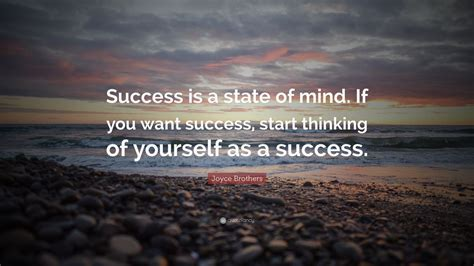 joyce brothers quote success   state  mind