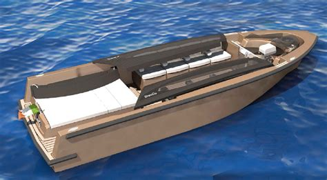 Lamborghini Tender Boat by Idesco Limo Tender Is Ready For Big Yachts And Their Garage