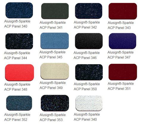 aluminum composite panel color chart alusign acp panel manufacturer