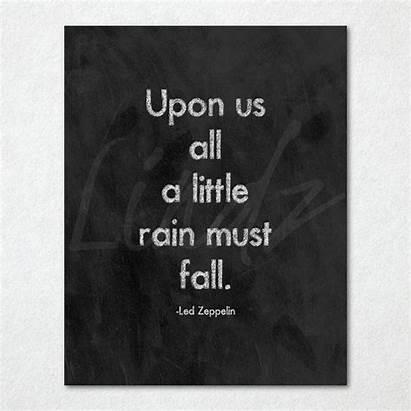 Zeppelin Led Lyrics Song Rain Chalkboard Wanelo