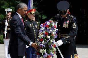 Laying Wreath at Tomb of Unknown Soldier