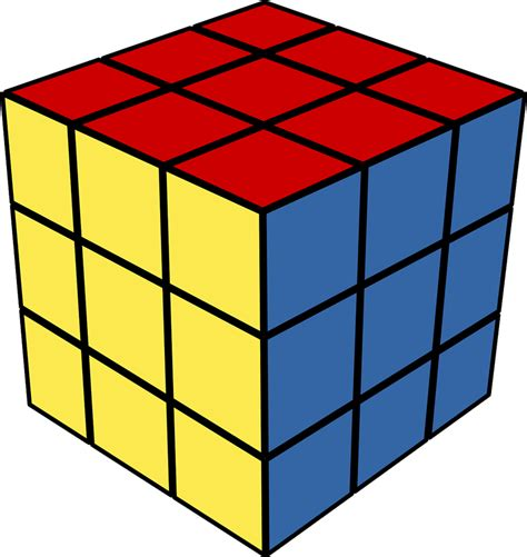 Image Cube Cube Clipart Rubik S Cube Pencil And In Color Cube