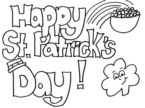 st patricks day coloring pages patrick pag  print