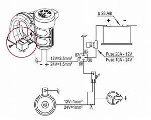 Single Sound Electropneumatic Horn