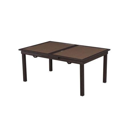 hton bay tobago rectangular extendable patio dining