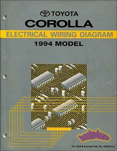 Corolla Toyota 1994 Manual Electrical Wiring Diagram Shop