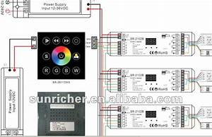 Dmx512 Full Touch Wall Rgb Led Controller