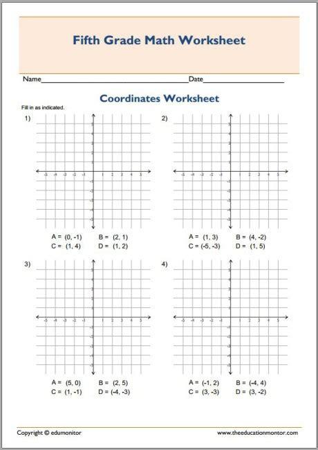 plotting coordinates    quadrants worksheets