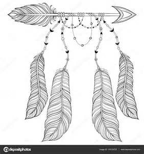 Tribal Feather Coloring Pages