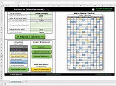 Calendrier 2019 Excel modifiable et gratuit ExcelMalincom