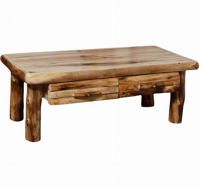 Table Log Coffee Aspen Drawer Standard Square