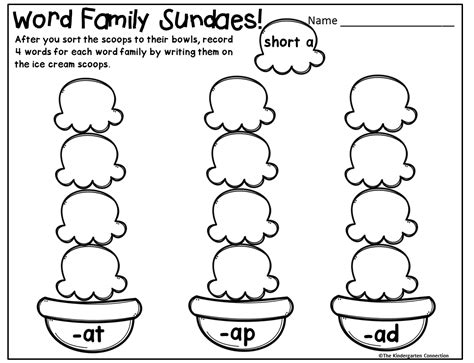 Word Family Game (and Freebies)