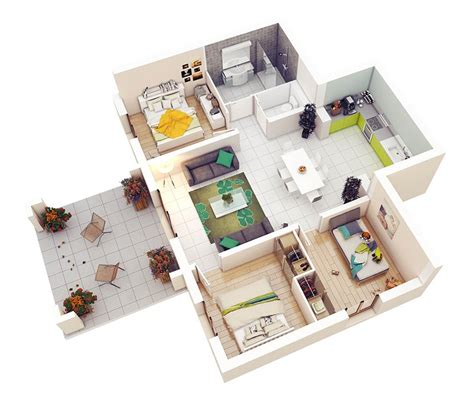 tri level floor plans 20 designs ideas for 3d apartment or one storey three
