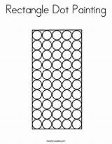 Rectangle Dot Coloring Painting Worksheet Letter Sheet Handwriting Built California Usa Twistynoodle Noodle sketch template