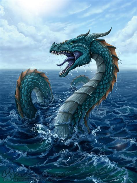 type  dragon   mythical creatures sea