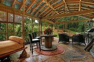 Decoration Enclosed Patio Idea Home Home Ideas Types Screened Porch Flooring