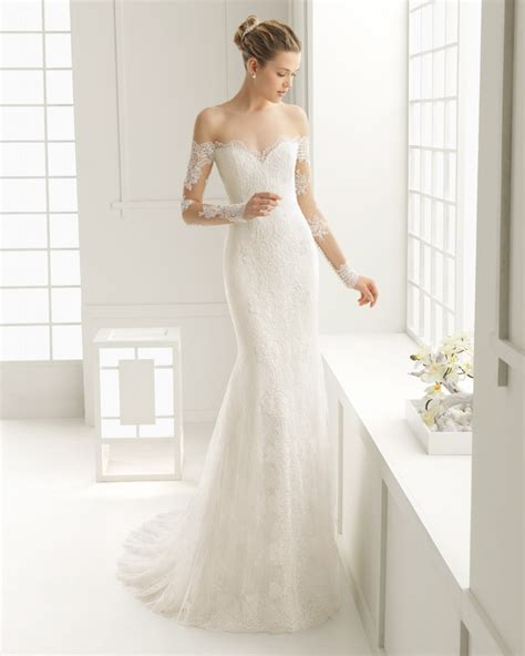latest   shoulder wedding dresses