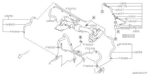 Subaru 2 5xt Engine Diagram by 11815ab502 Genuine Subaru Hose Assy Pcv