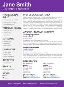 cv folio creative word resume templates