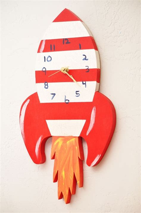 handmade childrens wall clock  splinters woodworks