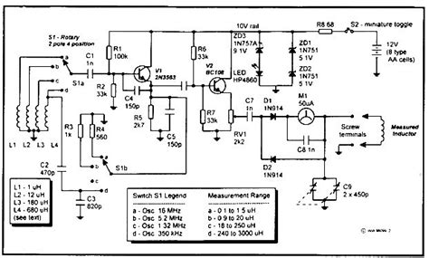 inductance meter circuit rf inductance meter