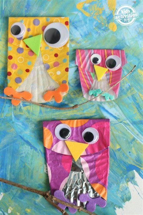 cupcake liner owls fall owl cupcake liner crafts 520   91fa0677c776e242b2232e3f15ba5d12