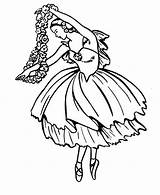 Coloring Ballet Ballerina Pages Dance Opera Doing Classic Position Fifth sketch template