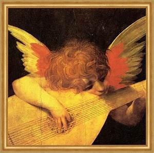 Musizierender Engel von Rosso Florentino Laute spielen St