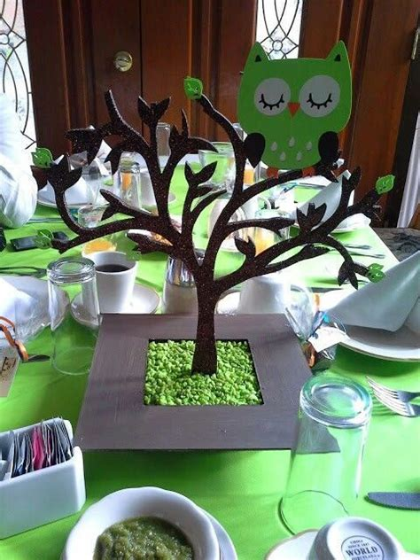 ideas  owl centerpieces  pinterest owl