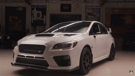bucky lasek brings  tuned subaru wrx sti  jay lenos garage video top speed
