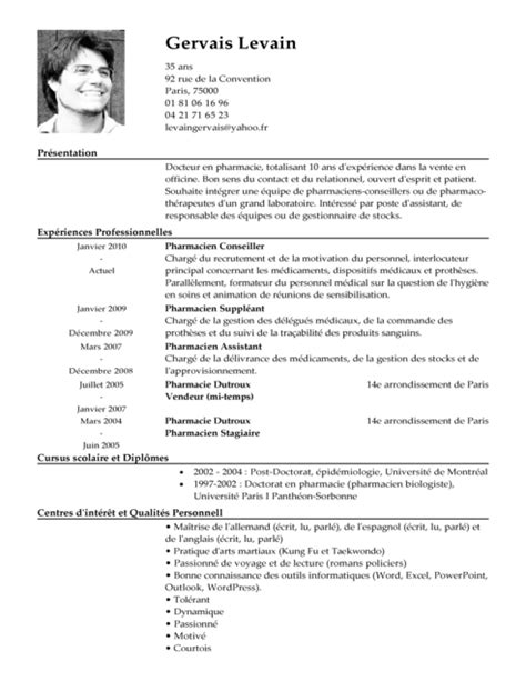 menage de bureau recrutement cv pharmacien exemple cv pharmacien livecareer