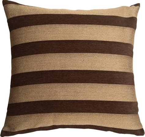 brown throw pillows brackendale stripes brown throw pillow from pillow decor