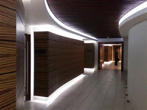 Led Ideen by Led Lighting In Hallway With Wood Paneling Led Ideas