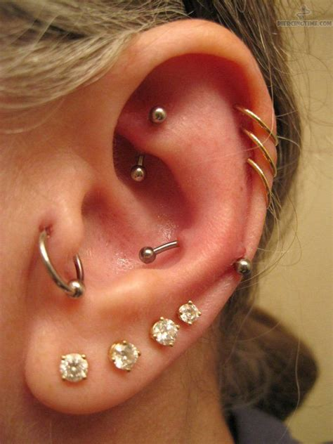 beautiful ear piercings piercings multiple ear